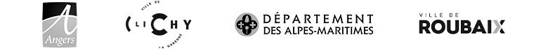 Liste clients de la solution ILO : ville d'Angers, ville de Clichy, le département des Alpes-Maritimes ou encore la ville de Roubaix