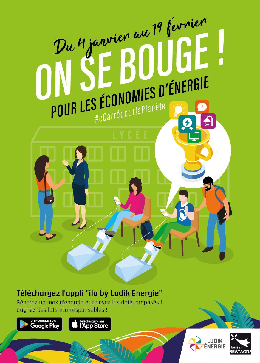 Affiches On se bouge pour les économies d'Energie - Région Bretagne