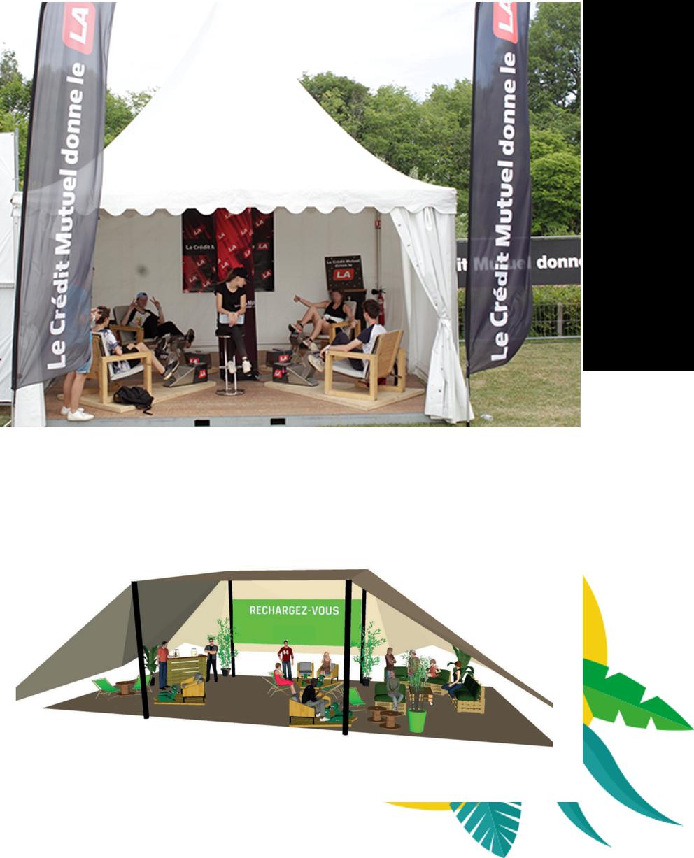 les bornes de recharge s'installent facilement dans les évènements culturels et les festivals